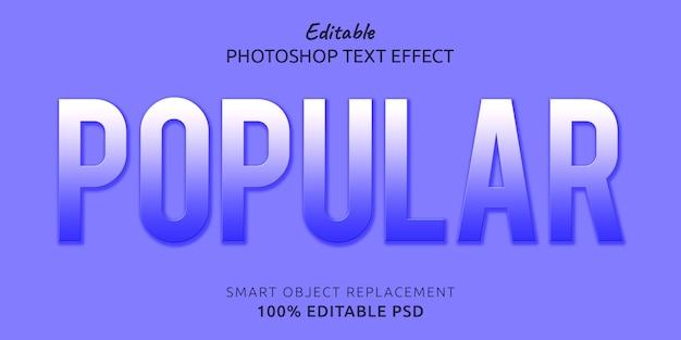Efeito de estilo de texto editável popular do photoshop