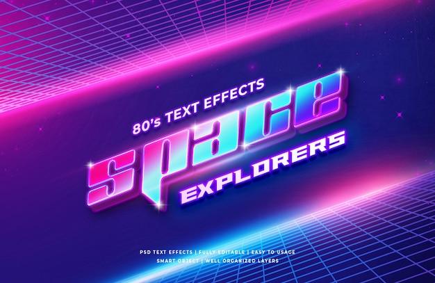Efeito de estilo de texto em 3d espaço