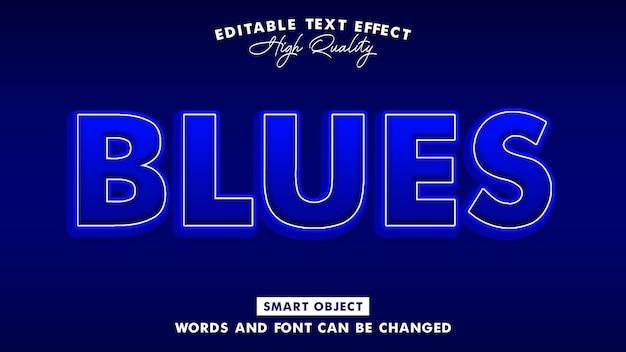 Efeito de estilo de texto em blues