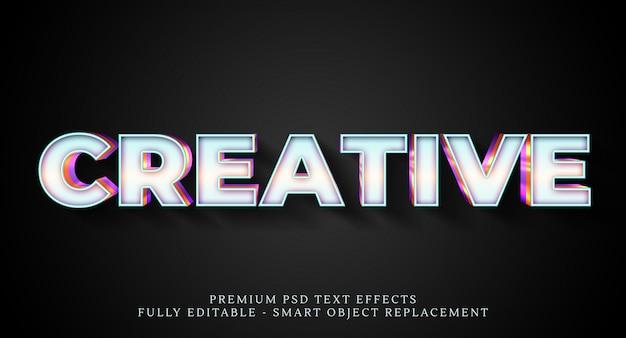 Efeito de estilo de texto em branco psd, efeitos de texto psd premium