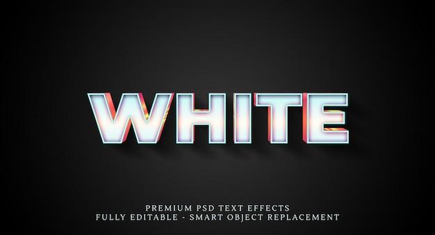 Efeito de estilo de texto em branco psd, efeitos de texto psd