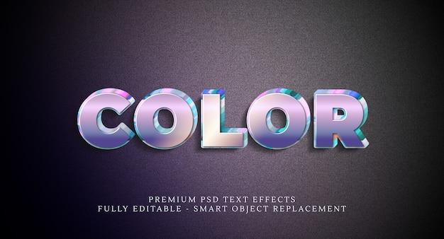 Efeito de estilo de texto em cores psd, efeitos de texto psd premium