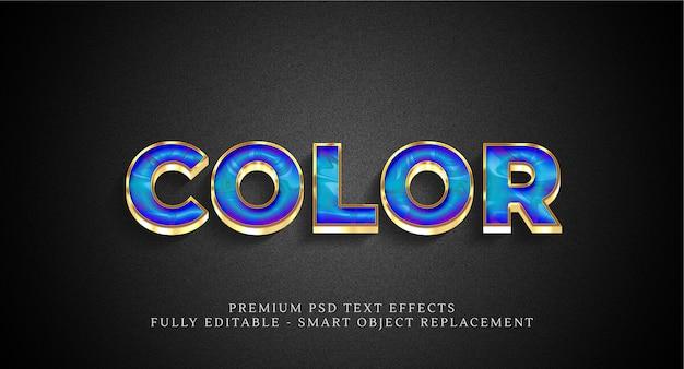 Efeito de estilo de texto em cores psd, efeitos de texto psd
