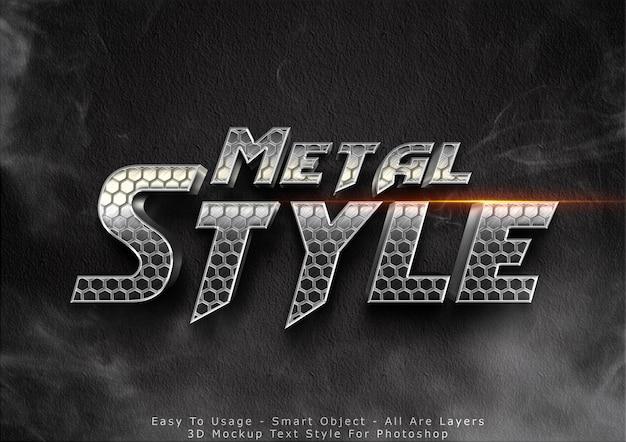 Efeito de estilo de texto em metal 3d