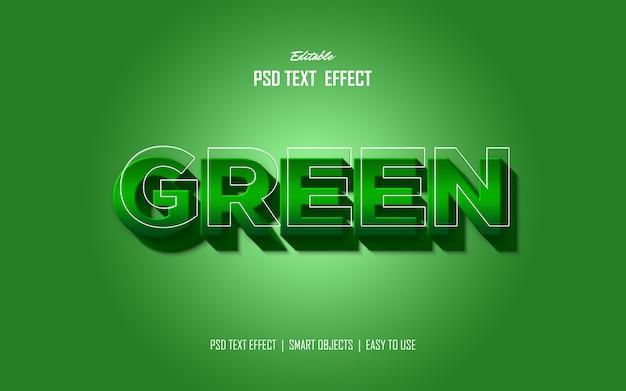 Efeito de estilo de texto em negrito verde