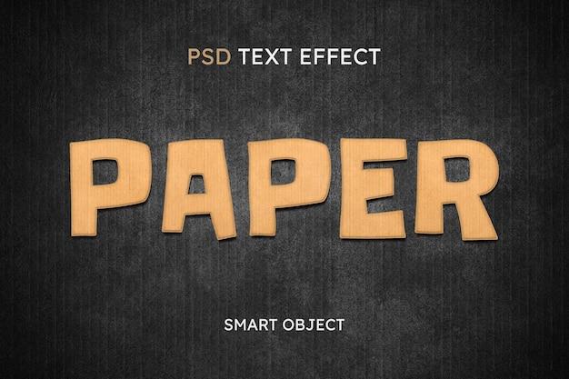 Efeito de estilo de texto em papel