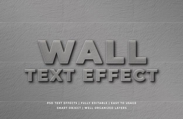 Efeito de estilo de texto em parede 3d