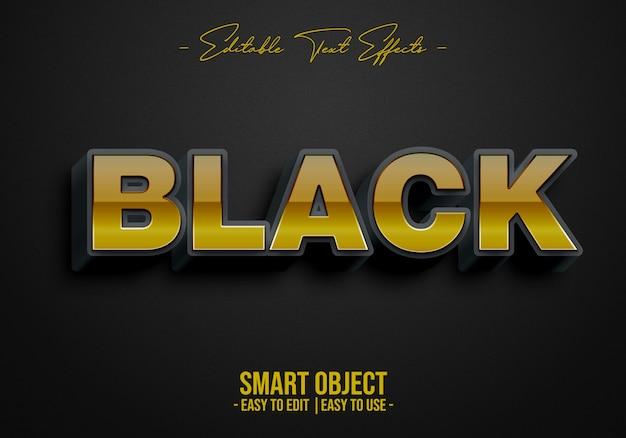 Efeito de estilo de texto em preto