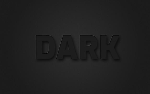 Efeito de estilo de texto escuro