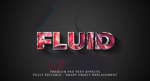 Efeito de estilo de texto fluido psd. efeitos de texto psd