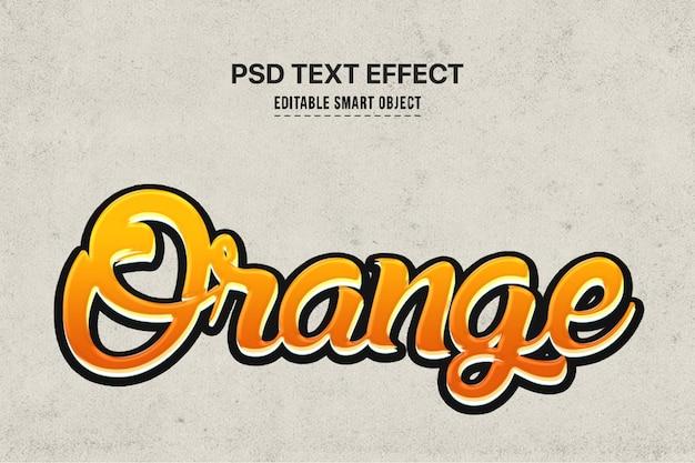 Efeito de estilo de texto laranja