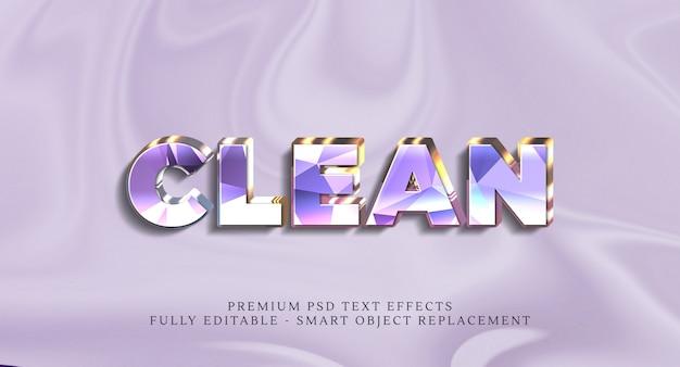Efeito de estilo de texto limpo psd, efeitos de texto psd premium