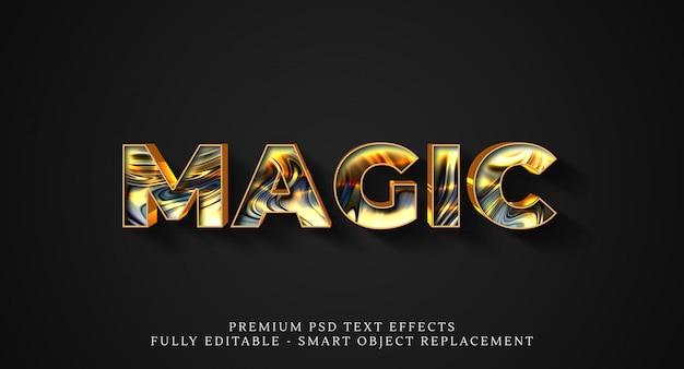 Efeito de estilo de texto mágico psd