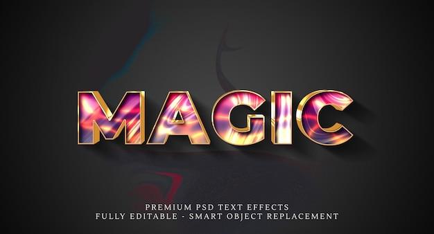 Efeito de estilo de texto mágico