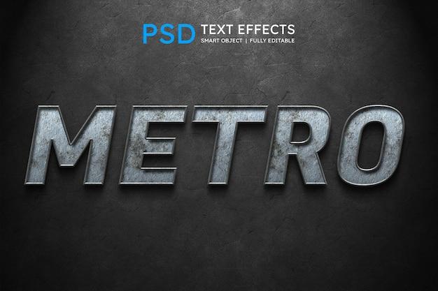 Efeito de estilo de texto metro