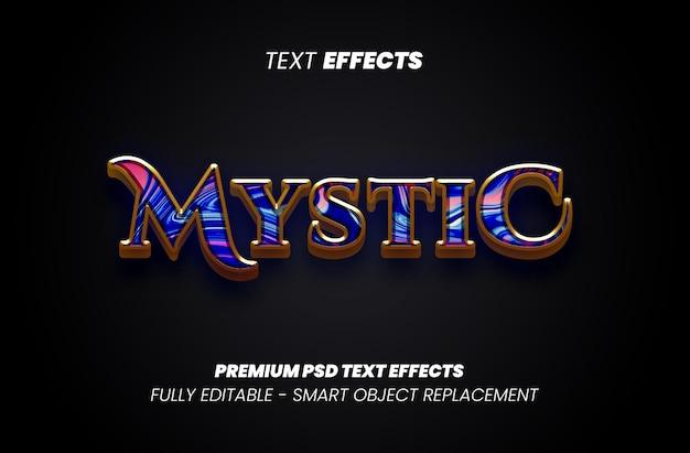 Efeito de estilo de texto místico psd premium