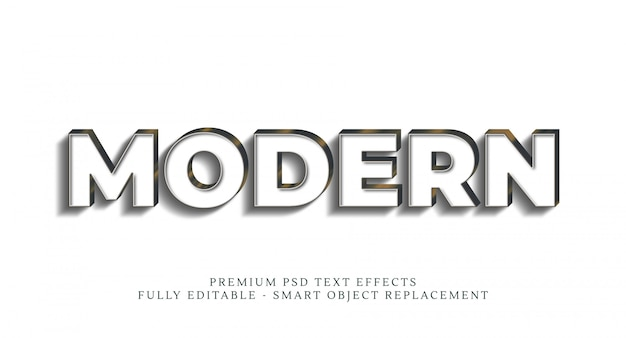 Efeito de estilo de texto moderno, efeitos de texto premium