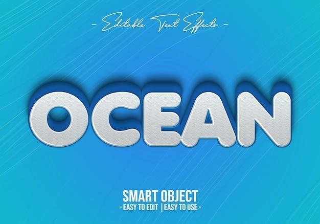 Efeito de estilo de texto no oceano