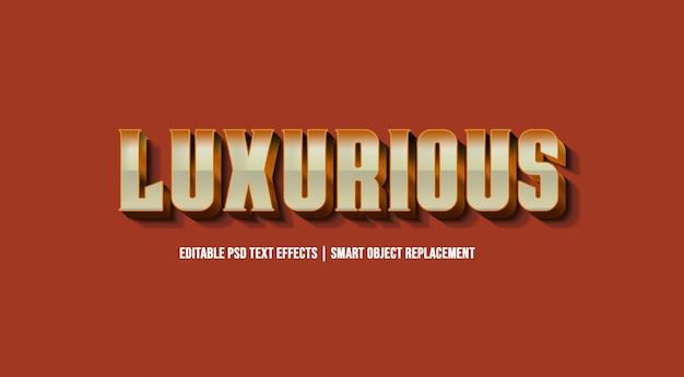 Efeito de estilo de texto premium de luxo em 3d