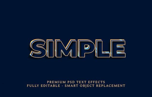 Efeito de estilo de texto simples psd, efeitos de texto psd premium