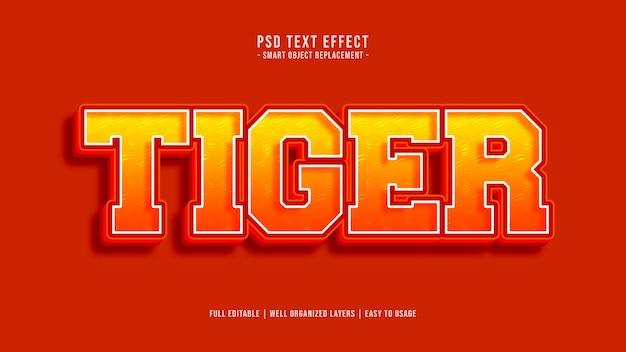 Efeito de estilo de texto tigre