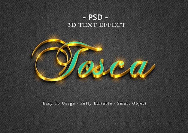 Efeito de estilo de texto tosca 3d