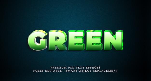 Efeito de estilo de texto verde psd, efeitos de texto psd premium