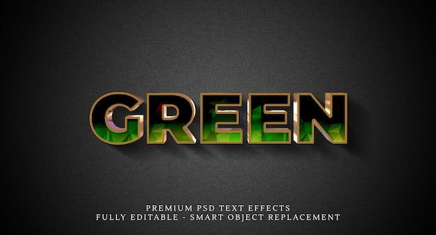 Efeito de estilo de texto verde psd