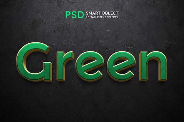 Efeito de estilo de texto verde