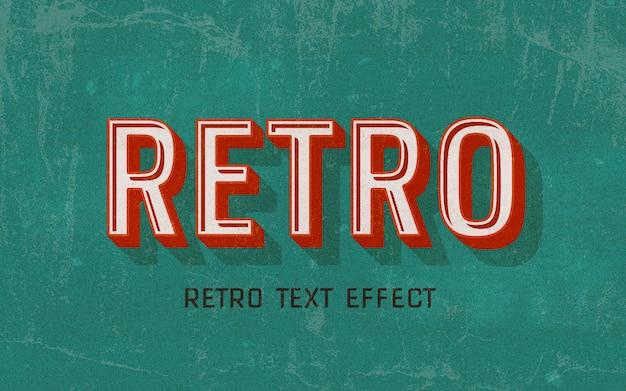 Efeito de estilo de texto vermelho retrô