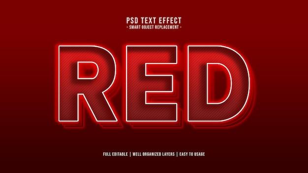 Efeito de estilo de texto vermelho