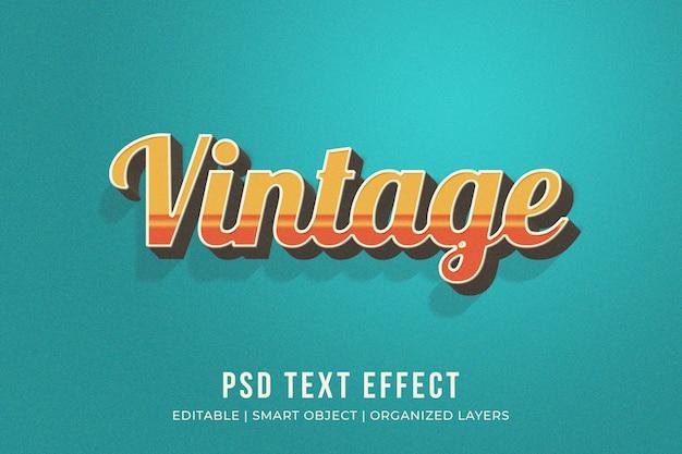 Efeito de estilo de texto vintage