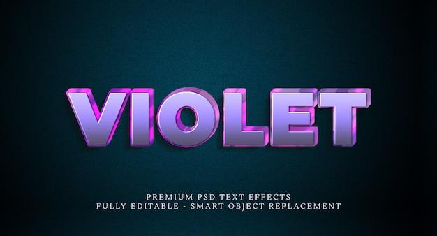 Efeito de estilo de texto violeta