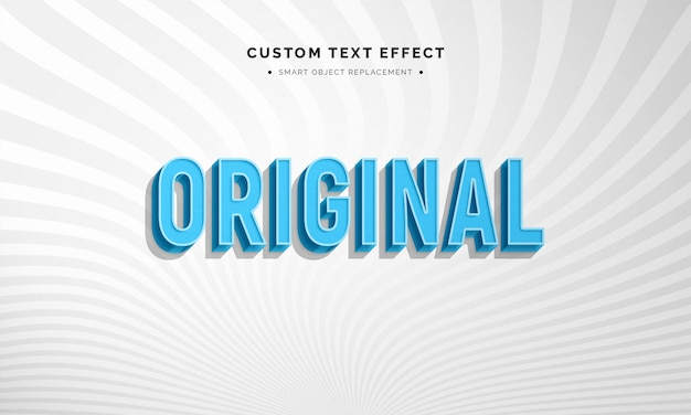 Efeito de estilo vintage texto azul 3d
