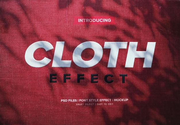 Efeito de fonte de tecido de tecido realista
