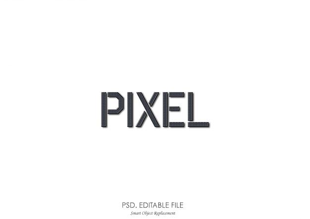 Efeito de fonte de textura de pixel