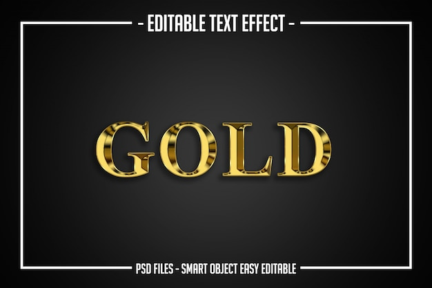 Efeito de fonte editável de estilo de texto de luxo de ouro