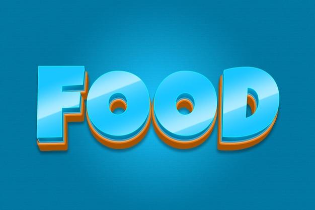 Efeito de fonte editável para alimentos