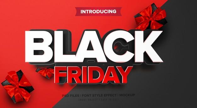 Efeito de fonte premium black friday