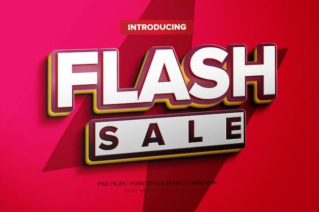 Efeito de fonte premium de venda em flash