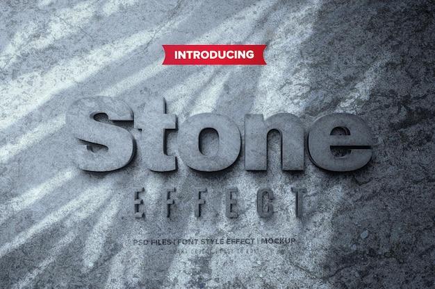 Efeito de fonte stone premium