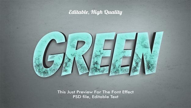 Efeito de fonte verde 3d