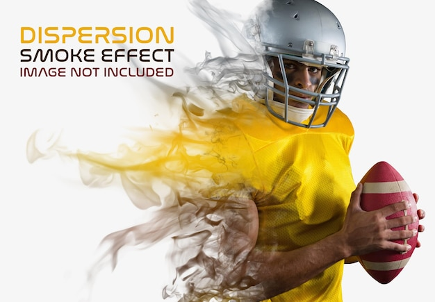 Efeito de foto de dispersão de fumaça