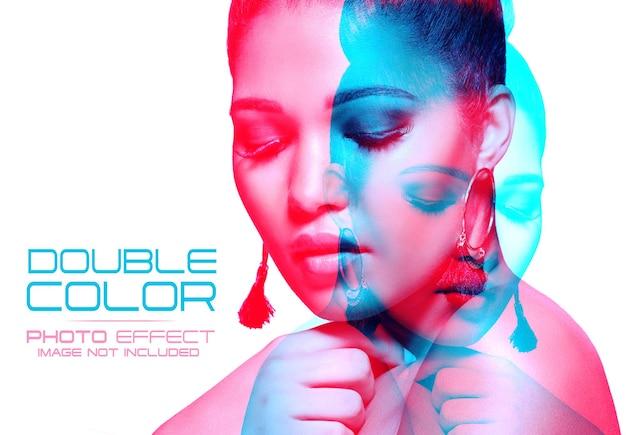 Efeito de foto de dupla exposição a cores