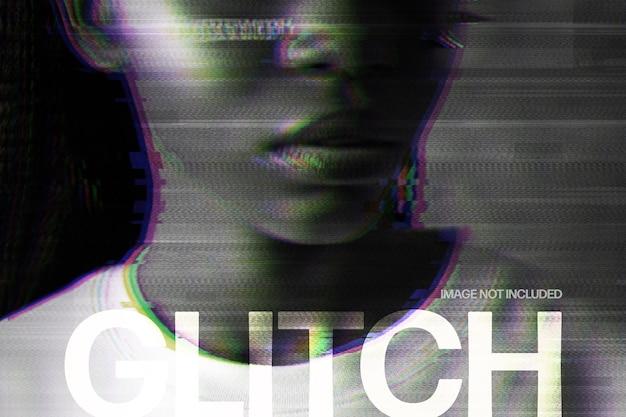 Efeito de foto de glitch twitch