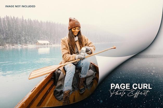 Efeito de foto de ondulação da página