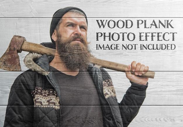 Efeito de foto de prancha de madeira