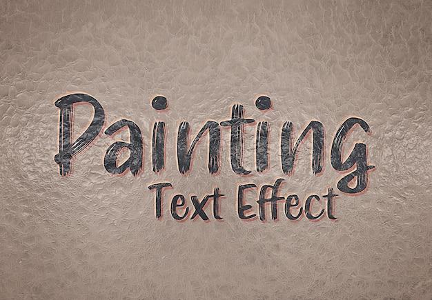 Efeito de foto de tinta a óleo em maquete de parede rachada