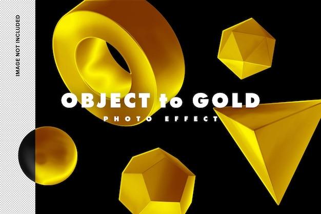 Efeito de foto de toque dourado
