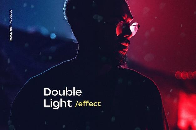 Efeito de fotografia com luz dupla